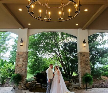 The Rhapsody Kansas City Wedding Venue chandelier