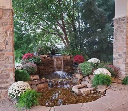 The Rhapsody Kansas City Wedding Venue waterfall