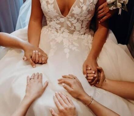 The ie Design House Kansas City Wedding Planner hands