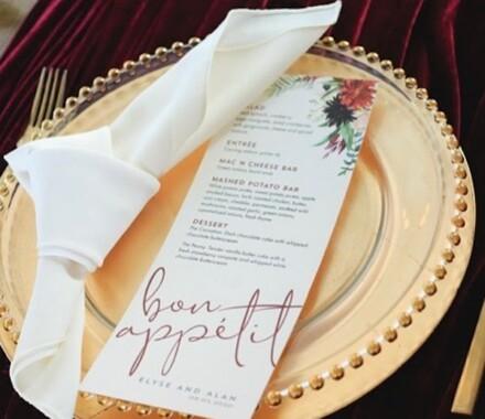 The ie Design House Kansas City Wedding Planner menu