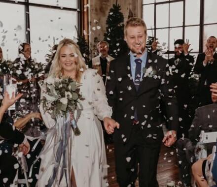The ie Design House Kansas City Wedding Planner toss
