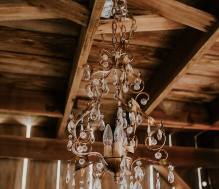 Tobacco Barn Farm Kansas City Wedding Venue chandelier