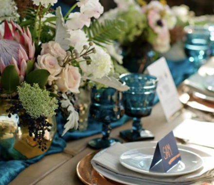 Ultrapom Event Rental Kansas City Wedding blue