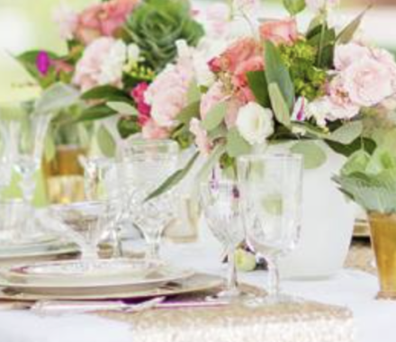 Ultrapom Event Rental Kansas City Wedding china