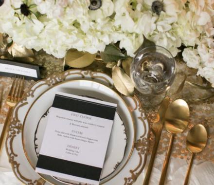 Ultrapom Event Rental Kansas City Wedding gold