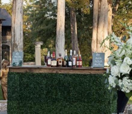 Ultrapom Event Rental Kansas City Wedding grass bar