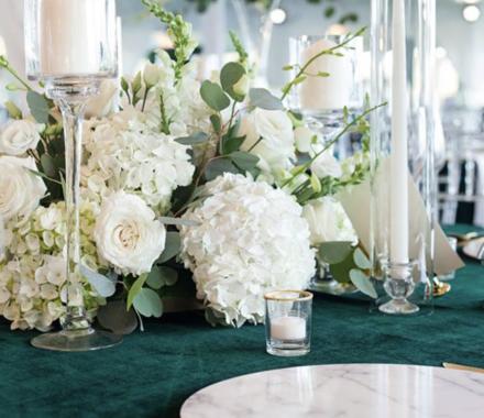 Ultrapom Event Rental Kansas City Wedding marble