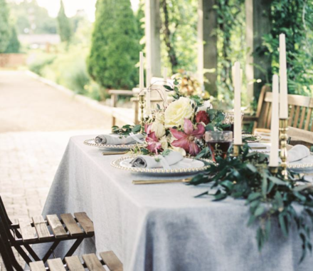 Ultrapom Event Rental Kansas City Wedding table decor