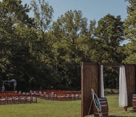 Venue at Willow Creek Kansas City Wedding Venue aisle