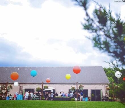 Venue at Willow Creek Kansas City Wedding Venue balloons