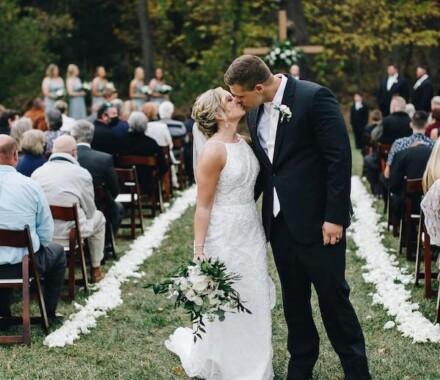 Venue at Willow Creek Kansas City Wedding Venue ceremony