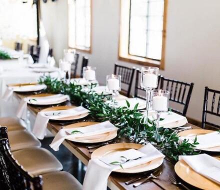 Venue at Willow Creek Kansas City Wedding Venue farm table
