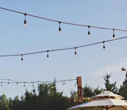 Venue at Willow Creek Kansas City Wedding Venue lights