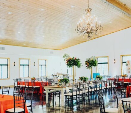 Venue at Willow Creek Kansas City Wedding Venue red