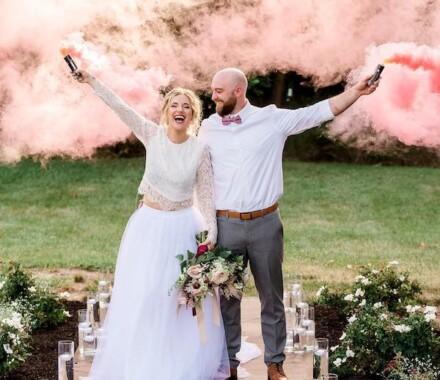 Venue at Willow Creek Kansas City Wedding Venue smoke