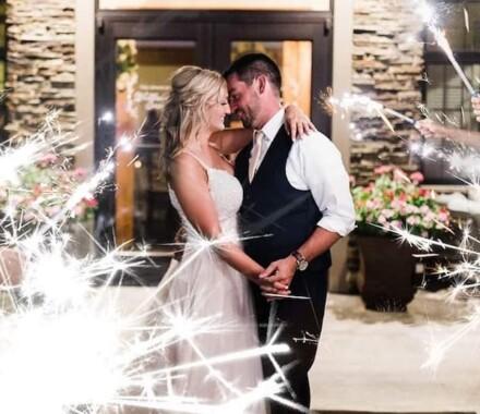 Venue at Willow Creek Kansas City Wedding Venue sparklers