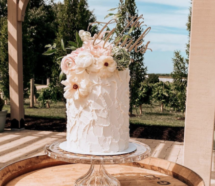 Water to Wheat Cakery Kansas City Wedding Cake arbor