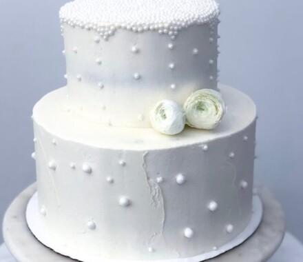 Water to Wheat Cakery Kansas City Wedding Cake beads