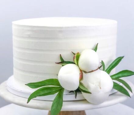 Water to Wheat Cakery Kansas City Wedding Cake cotton
