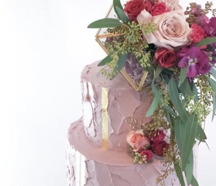 Water to Wheat Cakery Kansas City Wedding Cake lavendar