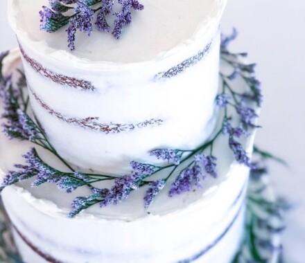 Water to Wheat Cakery Kansas City Wedding Cake purple