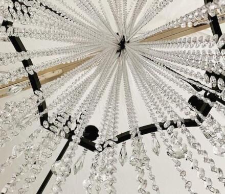 White Iron Ridge Wedding Venue Kansas City chandelier