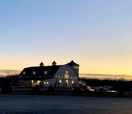 White Iron Ridge Wedding Venue Kansas City sunset
