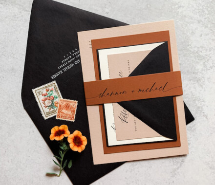 yellowbrick graphics wedding invitations burnt