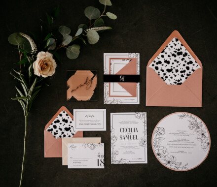 yellowbrick graphics wedding invitations contrast