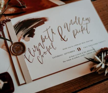 yellowbrick graphics wedding invitations country