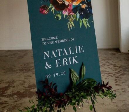 yellowbrick graphics wedding invitations easel