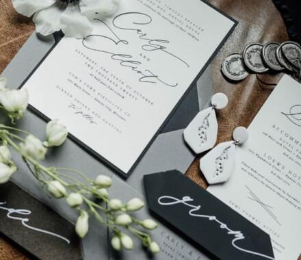 yellowbrick graphics wedding invitations green