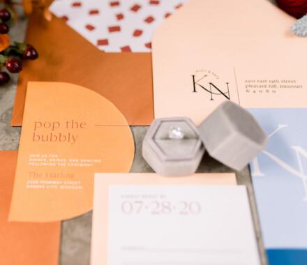 yellowbrick graphics wedding invitations orange