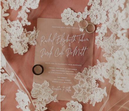 yellowbrick graphics wedding invitations salmon