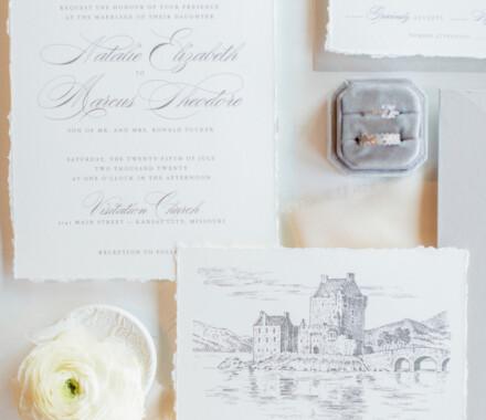 yellowbrick graphics wedding invitations white