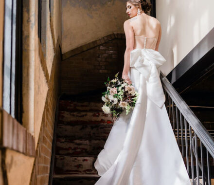Anne Marie Designs Kansas City Jewelry Wedding stairs