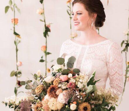 Bel Fiore Farm and Floral Wedding Kansas City Florist drape