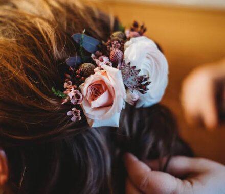 Bel Fiore Farm and Floral Wedding Kansas City Florist hair