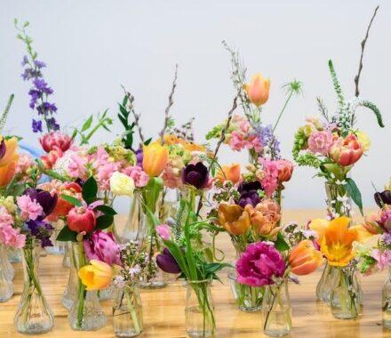 Bel Fiore Farm and Floral Wedding Kansas City Florist vases