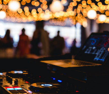 Levity Weddings and Events DJ Kansas City lights