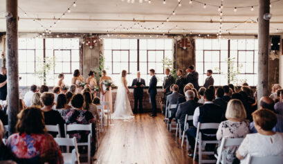 an urban elegant wedding at the bride and the bauer